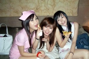 Chinese KTV girls.