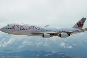 Air Canada 747 plane.